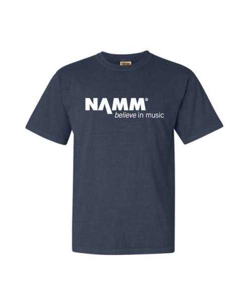 Denim Blue Garment Washed T-shirt