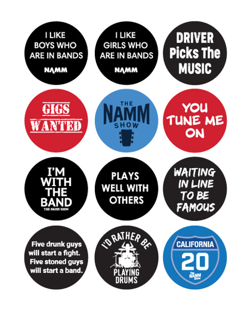 "1 1/2"" Buttons #1-12"