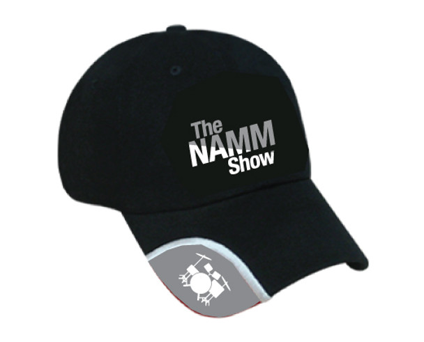 Black Cotton Twill 6-Panel Adjustable Hat