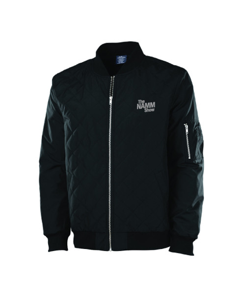 "Black ""The NAMM Show"" Quilted Flight Jacket"