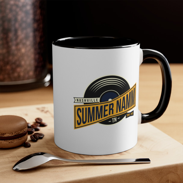 "11oz. White with Black Trim ""Summer NAMM Vinyl"" Mug"