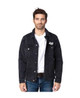 Unisex Vintage Black Denim Jacket