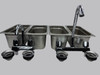 Standard 4 Compartment Concession Sink Set & Hand Washing  front view