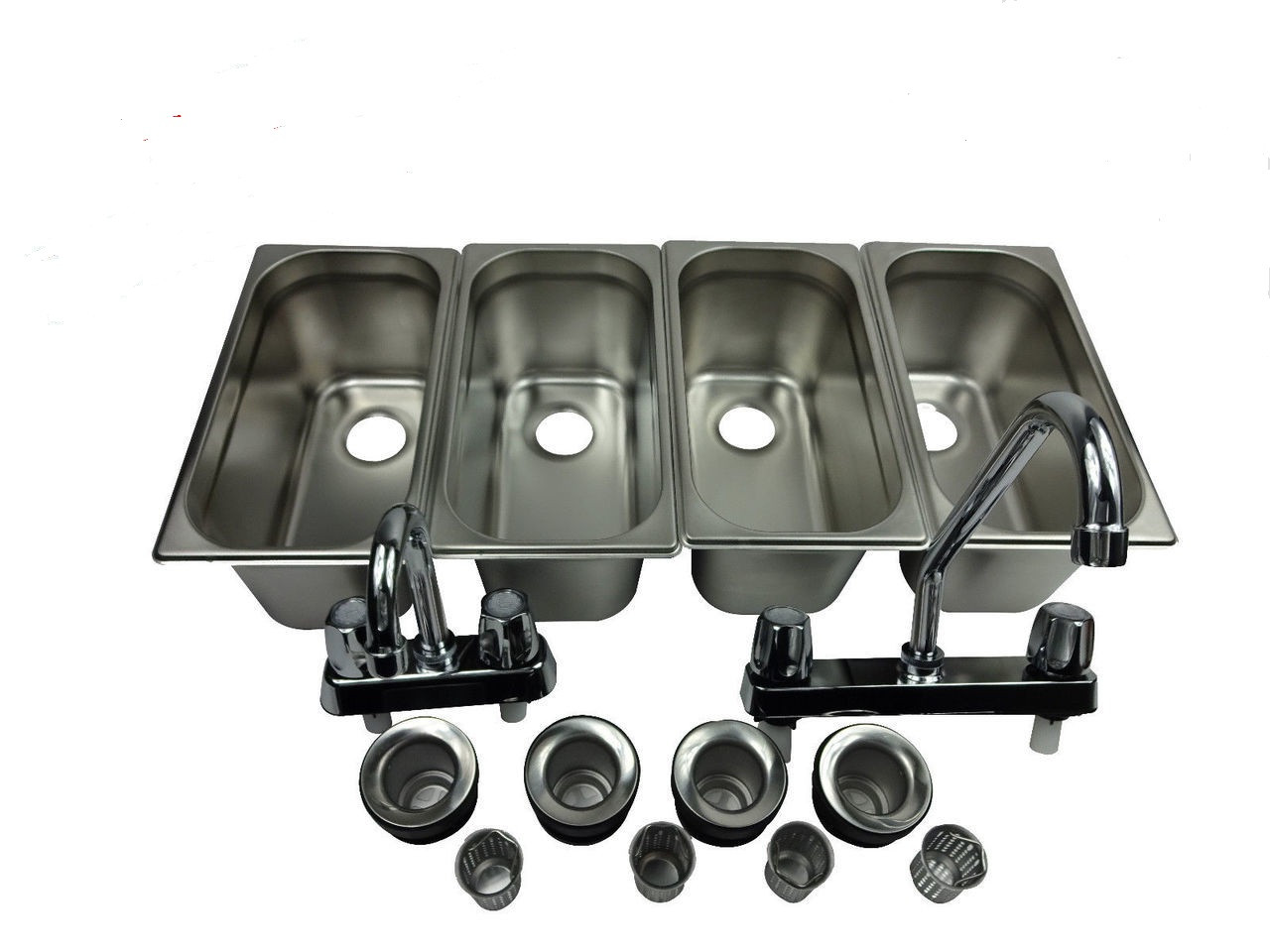 Standard 4 Compartment Concession Sink Set & Hand Washing