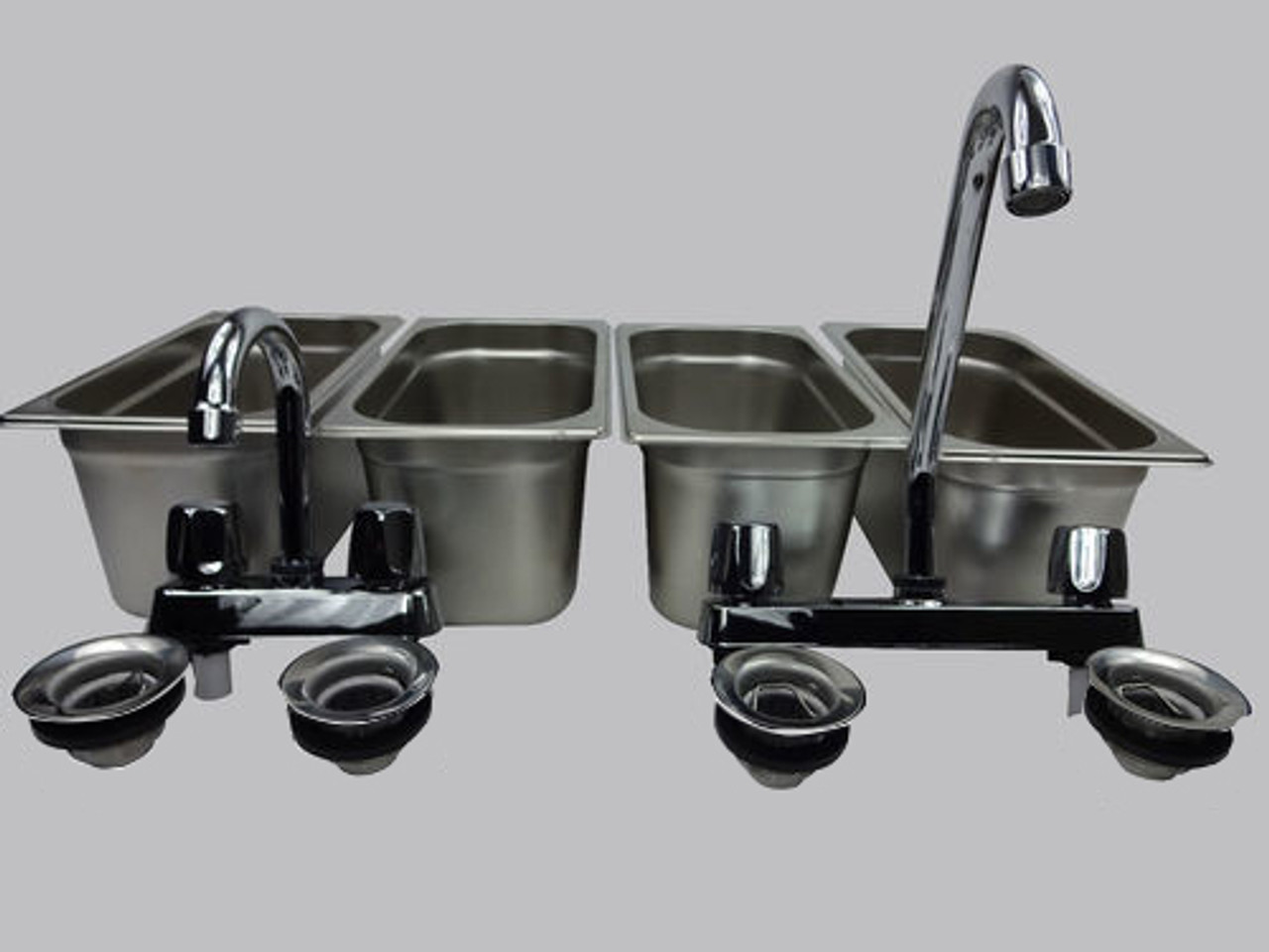 4 Compartment Concession Sink Portable 4 Traps Hand Washing Food Truck Trailer