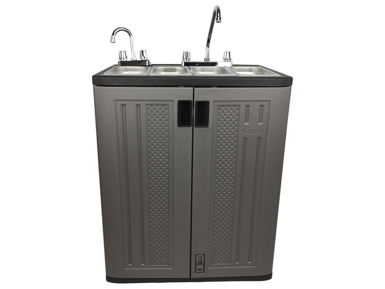 4 compartment concession sink