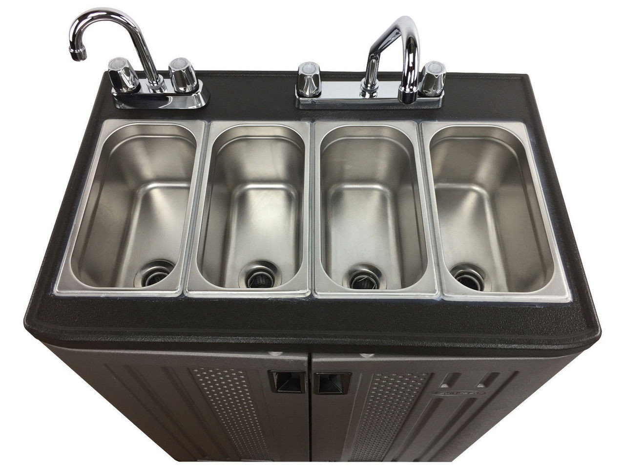 4 compartment concession sink front view