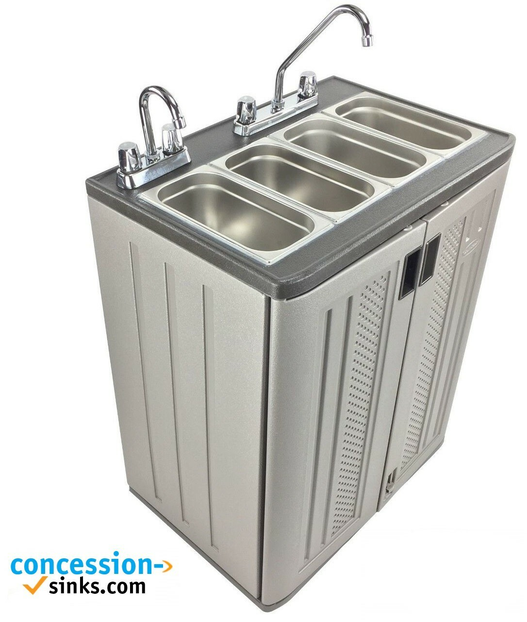 Mobile Concession Sink Portable Food Truck Trailer 4 Compartment Hand Wash Hot 35-0090