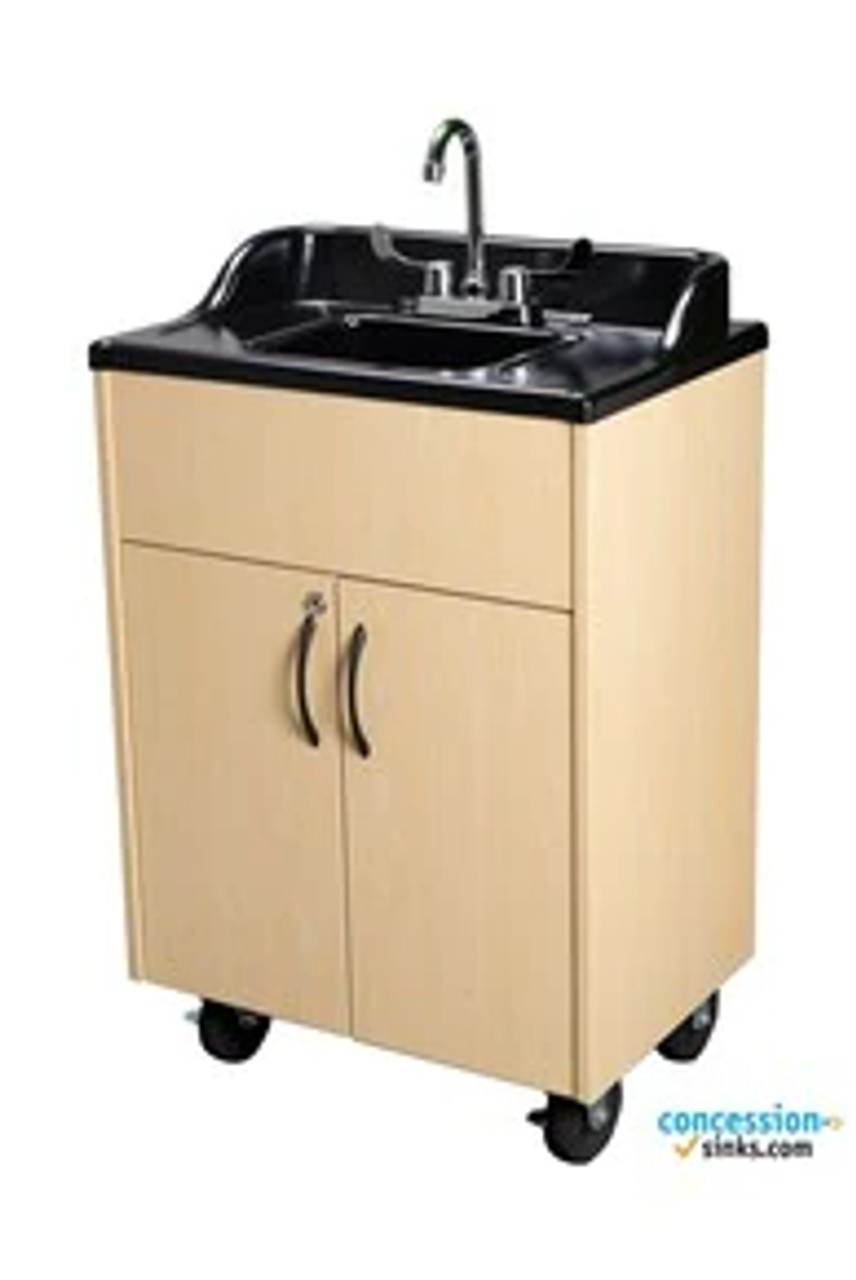 Premier Portable Handwashing Station with Hot Water (Maple Cabinet)