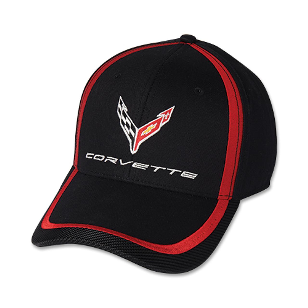 NEXT GENERATION C8 CORVETTE RED STRIPE ACCENT CAP