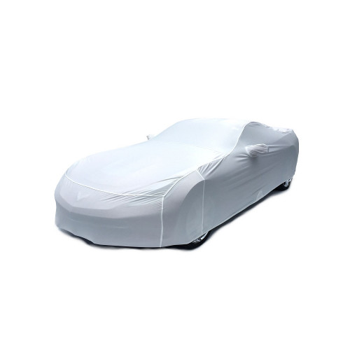 Super stretch cover is the perfect cover for your 2014 to 2016 C7 Corvette and Corvette Z06  Arctic White