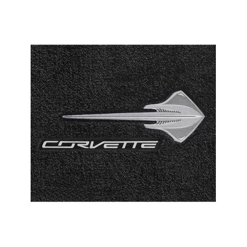 Black Lloyd Mats V0666127 Fits C7 Corvette Stingray Floor Mats Stingray Emblem /&  Script