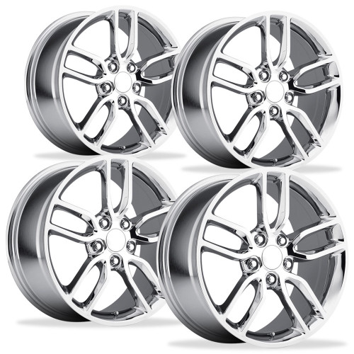 Set of 4 Chrome Wheels  - Center Caps w/decal Logos - Chrome lugs and Locks