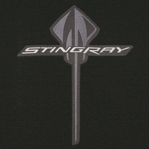 C7 CORVETTE GM PREMIUM CARGO MAT WITH STINGRAY LOGO BLACK- COUPE