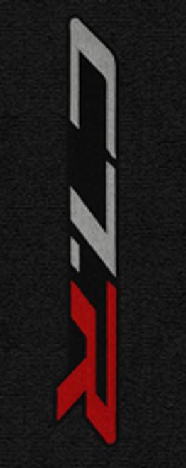 C7 CORVETTE FLOOR MATS - LLOYDS MATS JET/BLACK WITH  C7 SIDEWAYS LOGO