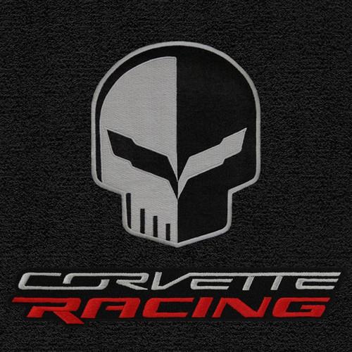 C7 CORVETTE LLOYDS FLOOR MATS BLACK WITH JAKE SKULL & CORVETTE RACING LOGO