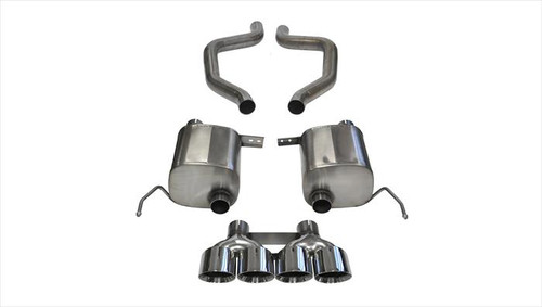 "C7 CORVETTE CORSA XTREME AXLEBACK EXHAUST WITH 4.5"" PRO SERIES TIPS"