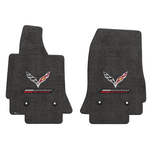 "3 ""C7 LLYODS ULTIMAT FRONT GRANDSPORT DOUBLE LOGO DARK GREY FLOOR MATS"""