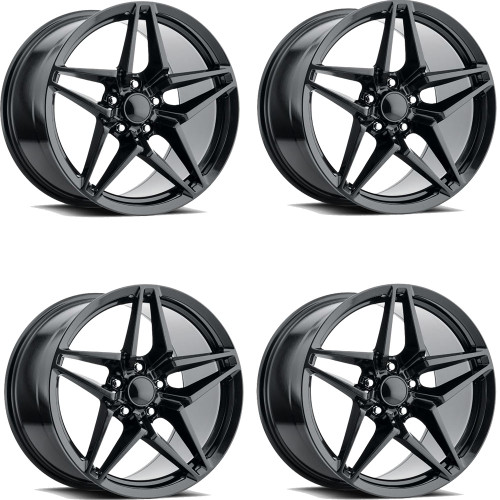 C7 CORVETTE ZR1 STYLE CARBON FLASH WHEELS