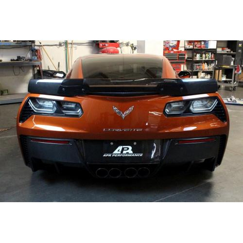 C7 Z06 STYLE CARBON FIBER SPOILER INSTALLED
