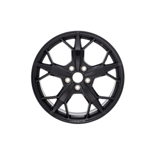 C8 20x11-Inch Aluminum 5-Trident Spoke Rear Wheel in Black