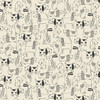 A walk in the park - Dog Outlines in Cream