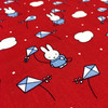 Miffy on Holiday Cotton Fabric - Kites in Red