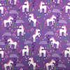 Leaping Unicorns Cotton in Purple