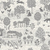 Grove by Makower - Scenic in Stone Grey