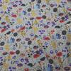 mid-century floral viscose fabric