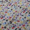 mid-century floral viscose fabric
