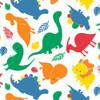 Dinosaur cotton flannel fabric