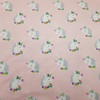 I Blve in Unicorns Cotton Flannel in Pink