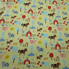 Farm Animals Cotton Flannel in Yellow