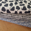 Sarah golden linen chat cat fabric