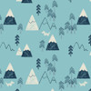 Laska by Dashwood Quilting Cotton- Mountains in Blue