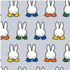 Miffy at School Craft Cotton - Working in Grey