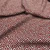 Dashing Diamonds Polyester in Rust Rust Dressmaking Fabric