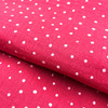 Dotty Double Gauze in Hot Pink Dressmaking Fabric