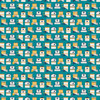 Figo Sunkissed Beach Huts in Teal Quilting Cotton