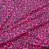 Cheetah Print Cotton Jersey in Raspberry