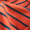 Yarn Dye Stripe Sweatshirt in Terracotta/Petrol