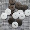 Matte 2-hole Buttons 20mm- Assorted Colours