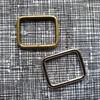 Metal Bag Rectangle Ring  25mm