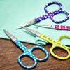 "Dotty Embroidery Scissors 3.6"""
