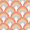 Good Vibes Rainbow in Cream Quilt Cotton Fabric