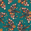 Good Vibes Birds in Teal Quilt Cotton Fabric