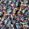 Painted Camo Viscose In Blue