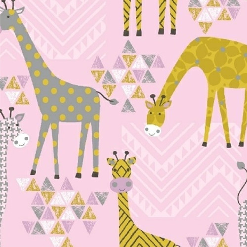STAND TALL Geo Giraffes by Whistler Studios in Pink