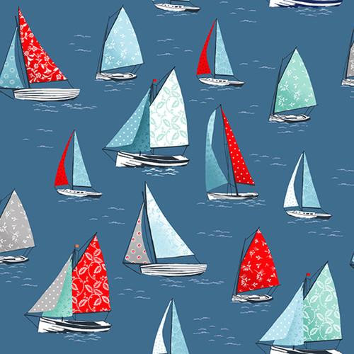 Makower - Sea Breeze - Yachts in Blue